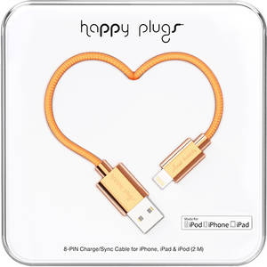 Cablu de date Happy Plugs 9912 Deluxe Lightning 2m Rose Gold