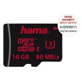 Card Hama microSDHC 16GB 80 Mbs UHS-I U3