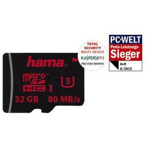 Card Hama microSDHC 32GB 80 Mbs UHS-I U3