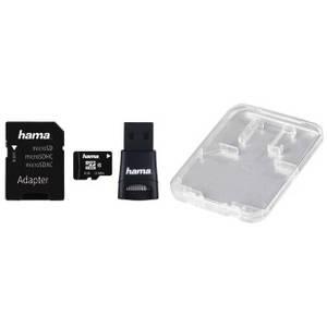 Card Hama microSDHC 8GB 22 Mps Clasa 10 cu adaptor SD si card reader USB