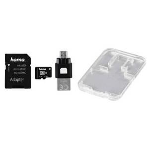 Card Hama microSDHC 32GB 22 Mbs Clasa 10 cu adaptor SD si card OTG USB