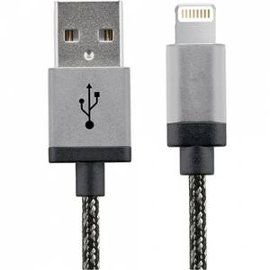 Cablu de date STAR USB la Lightning 2m Aluminium Alb Negru