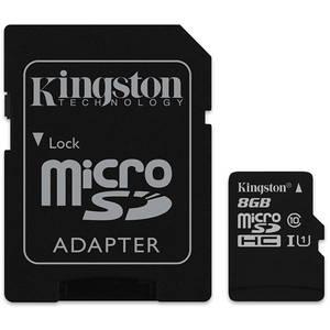 Card Kingston Industrial microSDHC 8GB 20 Mbs Clasa 10 UHS-I U1 cu adaptor SD