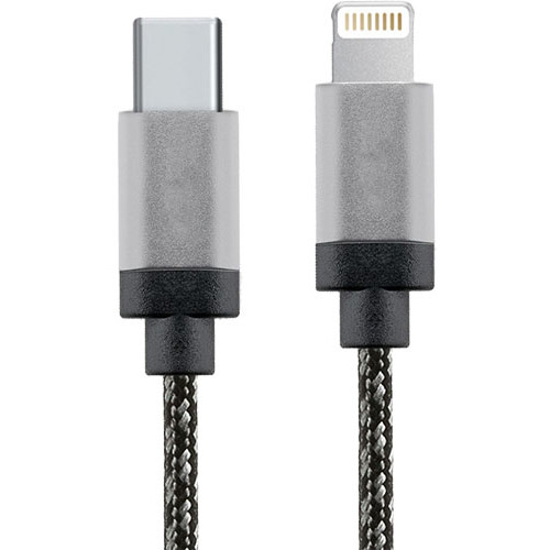 Cablu de date USB-C la Lightning 1m Aluminiu Alb