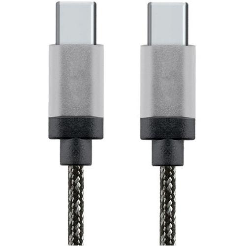 Cablu de date USB-C la USB-C 1m Aluminiu Alb
