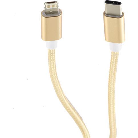 Cablu de date USB-C la Lightning 1m Auriu