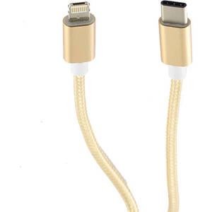 Cablu de date Star USB-C la Lightning 1m Auriu