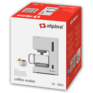Cafetiera Alpina SF 2821 680W 0.75 Litri 6 cesti Alb