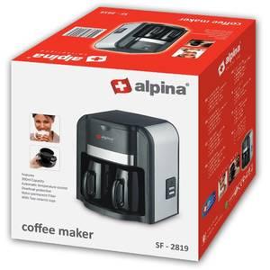 Cafetiera Alpina SF 2819 500W 0.3 Litri 2 cesti Negru/Inox