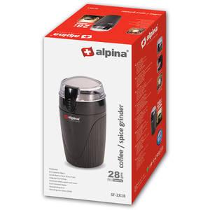Rasnita cafea Alpina SF-2818 90W buton PULS Negru
