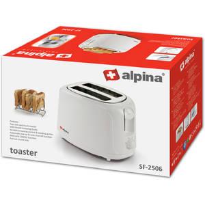 Prajitor de paine Alpina SF 2506 800W 2 felii termostat Alb