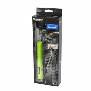 Selfie Stick Vakoss ST-1653E Bluetooth cu zoom verde