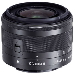 Aparat foto Mirrorless Canon EOS M10 18 Mpx Black Kit EF-M 15-45mm IS
