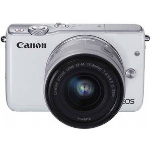 Aparat foto Mirrorless Canon EOS M10 18 Mpx White Kit EF-M 15-45mm IS