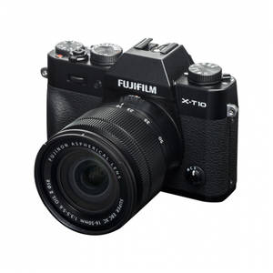 Aparat foto Mirrorless Fujifilm X-T10 16.3 Mpx Black Kit XC 16-50mm si 50-230mm