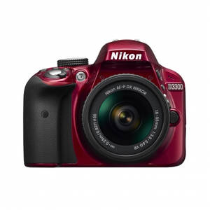 Aparat foto DSLR Nikon D3300 24.7 Mpx Kit AF-P 18-55mm VR Red
