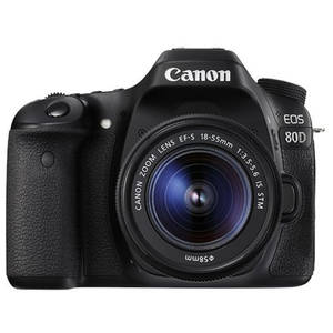 Aparat foto DSLR Canon EOS 80D kit EF-S 18-55mm IS STM