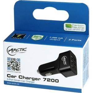 Incarcator auto ARCTIC Car Charger 7200 3x USB negru