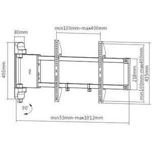 Suport TV Blackmount perete M03 motorizat 26 - 46 inch 40 kg negru