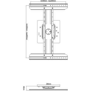 Suport TV Multibrackets perete MB-7136 32 - 70 inch 50 kg negru