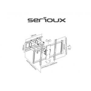 Suport TV Serioux perete TV100FM 60 -100 inch 80 kg negru