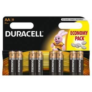Baterie Duracell Basic AA LR06 8buc 9V Negru