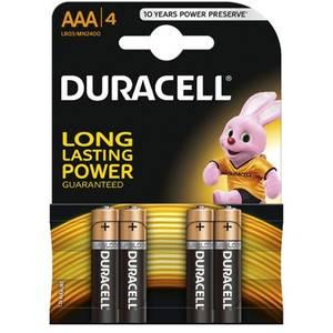 Baterie Duracell Basic AAA LR03 4buc Negru