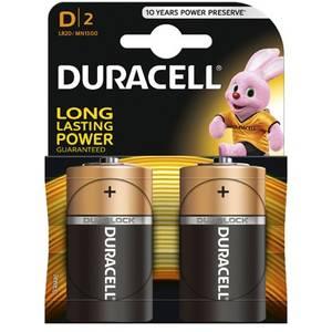 Baterie DURACELL Basic D LR20 2buc Negru