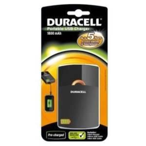Incarcator acumulatori portabil Duracell USB 1800mAh Negru