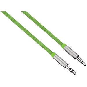 Cablu audio Hama 80533 ColorLine Jack-Jack 3.5mm pentru smartphone 1m verde