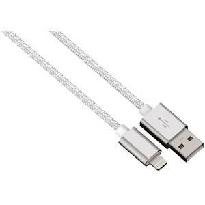 Cablu de date Hama 80528 ColorLine Lightning pentru iPhone 1m alb