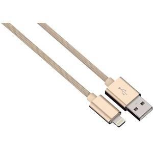 Cablu de date Hama 80523 ColorLine Lightning pentru iPhone 1m auriu