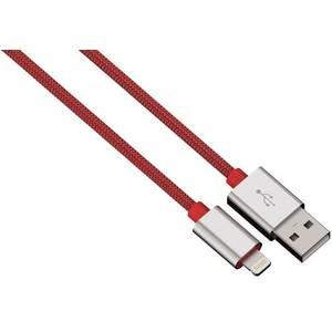 Cablu de date Hama 80525 ColorLine Lightning pentru iPhone 1m rosu