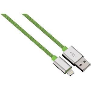 Cablu de date Hama 80527 ColorLine Lightning pentru iPhone 1m verde