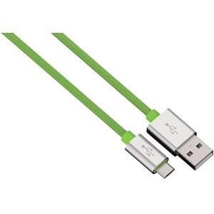 Cablu de date Hama 80514 ColorLine microUSB 1m verde