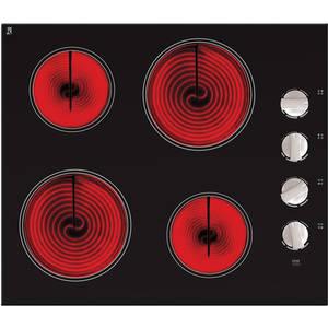 Plita Pyramis SPICA vitroceramica 4 arzatoare 6 nivele de putere Negru