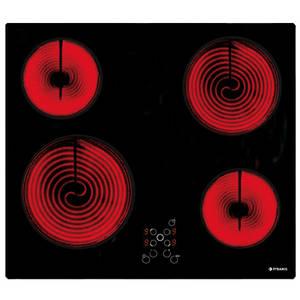 Plita Pyramis 58HL 436 Vitroceramica 4 zone de gatit 9 nivele Touch Control Negru