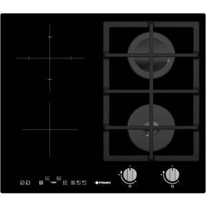 Plita Mixta Pyramis 2+2 Gaz & Vitroceramica Timer Touch Control Negru
