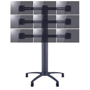 Suport TV podea Multibrackets MB-pw39 10 - 24 inch  pentru 3, 6 sau 9 televizoare