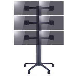 Suport TV podea Multibrackets MB-pw26 10 - 55 inch pentru 2, 4 sau 6 televizoare