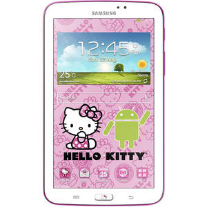 Tableta Samsung Galaxy Tab3 T210 7.0 inch 1.2 GHz Dual Core 1GB RAM 8GB flash WiFi GPS Android 4.1 Hello Kitty White