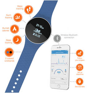 Bratara Fitness Ihealth Wave Fitness&Swim AM4 Wireless Blue