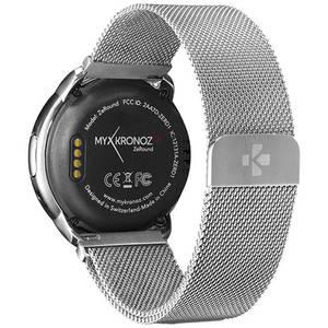 Smartwatch Mykronoz ZeRound Premium Curea Metal Argintiu + Curea Silicon Negru