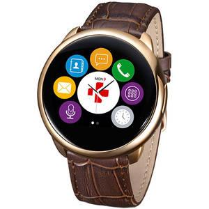Smartwatch Mykronoz Smartwatch ZeRound Premium Curea Piele + Curea Silicon Maro
