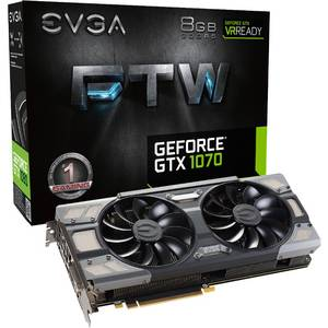 Placa video EVGA nVidia GeForce GTX 1070 FTW GAMING ACX 3.0 8GB DDR5 256bit