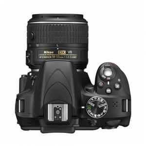 Aparat foto DSLR Nikon D3300 24.7 Mpx Kit AF-P 18-55mm VR si 55-200mm VR II Black