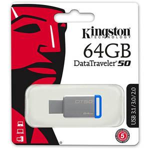 Memorie USB Kingston DataTraveler 50 64GB USB 3.1 Blue