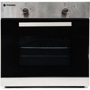 Cuptor electric Pyramis BASE III 62 Litri 4 functii Inox si sticla neagra