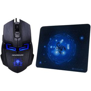 Mouse gaming Newmen N6000 Black plus Mousepad MP235