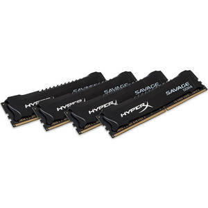 Memorie Kingston HyperX Savage Black 64GB DDR4 2666 MHz CL15 Quad Channel Kit